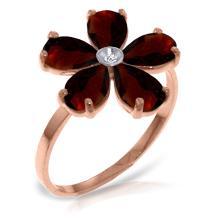 14K Rose Gold Citizen Of Love Garnet Diamond Ring #21388v0