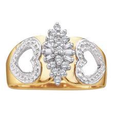 10KT Yellow Gold 0.15CTW DIAMOND CLUSTER RING #54827v2