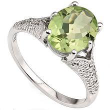 GENUINE 2.34 CTW GREEN AMETHYST AND DIAMOND PLATINUM PL #42264v2