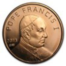 1 oz Copper Round - Pope Francis #33678v2