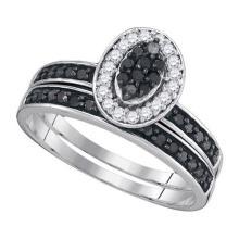 925 Sterling Silver White 0.50CTW DIAMOND MICRO-PAVE RING #53310v2