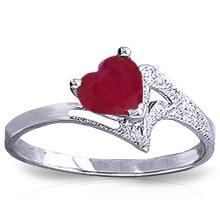 14K White Gold  Helen Oh Helen Ruby Ring #13568v0