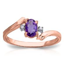 14K Rose Gold Mystic Amethyst Diamond Ring #14264v0