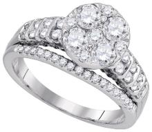 14KT White Gold 1.50CTW DIAMOND FASHION BRIDAL RING #64106v2