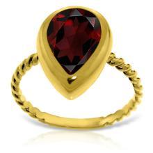 14K. Solid Gold RINGS WITH NATURAL PEAR SHAPE GARNET #17121v0