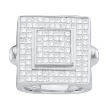 14KT White Gold 3.75CTW PRINS MENS DIAMOND RING WHITE GOLD #55157v2