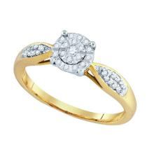 10K Yellow-gold 0.16CT DIAMOND LADIES FASHION RING #67942v2