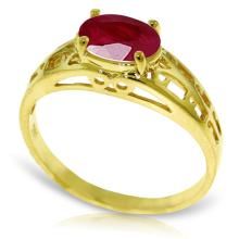 14K Solid Gold Filigree Ring with Ruby #19388v0