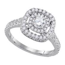 14KT White Gold 1.22CTW DIAMOND 0.33CT-CRD BRIDAL RING #60441v2