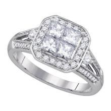 14KT White Gold 1.00CTW DIAMOND INVISIBLE BRIDAL RING #59820v2