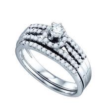 14KT White Gold 0.55CT DIAMOND BRIDAL RING #64453v2