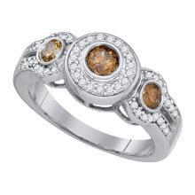 10KT White Gold 0.81CT DIAMOND FASHION RING #59406v2