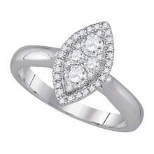 14KT White Gold 0.50CTW DIAMOND FASHION RING #59783v2