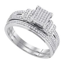 10KT White Gold 0.33CT DIAMOND MICRO PAVE RING #66704v2
