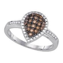925 Sterling Silver White 0.20CTW DIAMOND FASHION RING #59762v2