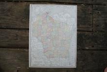 GENUINE 1912 MAP OF WISCONSIN #70658v2