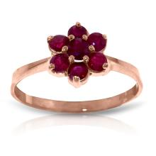 14K Rose Gold Moment Of Peace Ruby Ring #11334v0