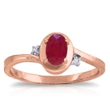 14K Rose Gold Atlantis Ruby Diamond Ring #13520v0