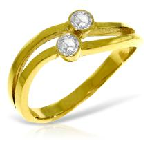 14K Solid Gold Ring with 0.20 Ct. Diamonds #13606v0