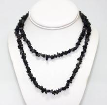 170.01 CTW Natural Un-Cut Beaded Iolite Necklace #49222v1