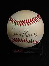 Ernie Banks Autographed Official National