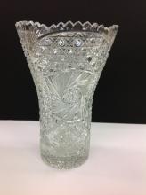 American Brilliant Cut Large Vase