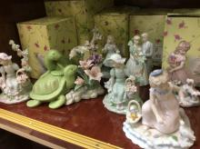 Selection Of Porcelain Figures W/Box