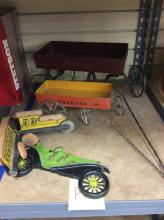 Antique Toy Wagons & More