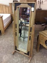 Western Style Pine Dressing Mirror
