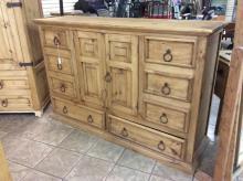 Western Style Pine Dresser