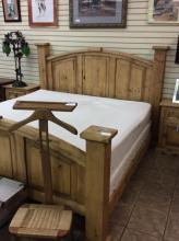 Western Style Pine King Size Bed