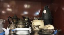 Silver plated Tea Set, flatware and more