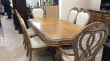Beautiful inlaid Highly  carved dining room table