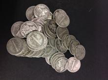 40 Silver Mercury Dimes