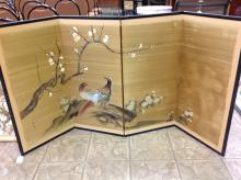 4 Panel Hand Painted Oriental Screen