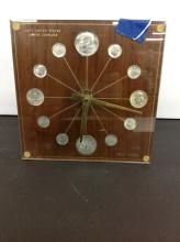 U.S. Silver Coinage Wall Clock