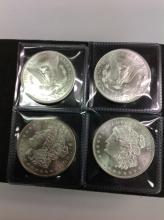 Set Of 4 One Ounce Fine Silver Morgan