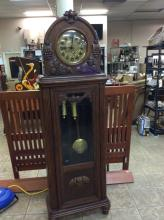 Outstanding Antique Grandfather Clock Chimes On