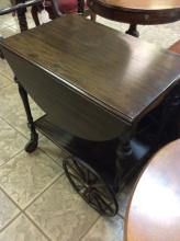 Vintage Drop Leaf Tea Cart