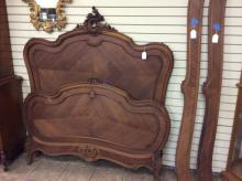 Carved French Antique Walnut Louis XV Full Size