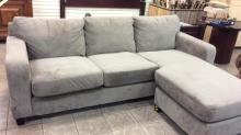 Micro Fiber sofa with chase  lounge on the end in