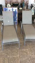 Pair of outdoor chase lounges