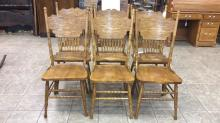 Carved oak chairs set of 6