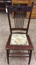 Antique carved accent chair