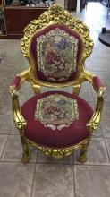 Gilded gold chair