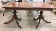 Antique claw foot wooden dining table