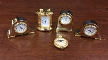 Small Miniature collector clocks Majestron and
