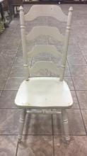 Shabby chic wood accent chair