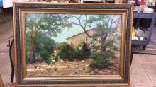 Large framed oil on canvas signed John Cranch