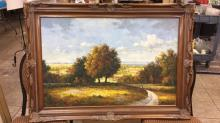 Large framed oil on canvas signed R. Ted
